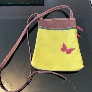 Handbags - Green and wine colored crossbody bag